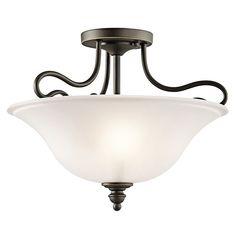 Kichler 42900 Tanglewood 2 Light Semi-Flush Indoor Ceiling Fixture