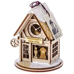 Drosselmeyer's Clock Shop Ornament http://shop.crackerbarrel.com/Drosselmeyers-Clock-Shop-Ornament/dp/B00NCA4H4U