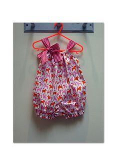 Baby's romper pattern, Pretty Baby Romper PDF Sewing Pattern, easy to make baby's romper sewing pattern sizes 00 - 4.