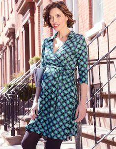 Retro Print Maternity Wrap Dress | Seraphine