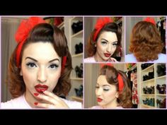 ▶ Spring Fab Pinup Hair Tutorial - YouTube