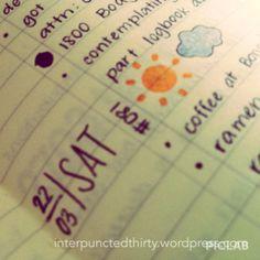 pretty bullet journal     agenda, planner, notebook, to-do, stationery, student, organisation