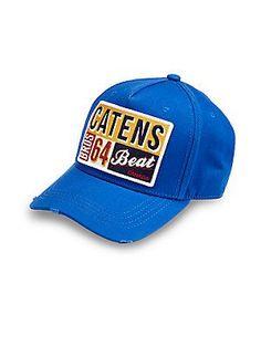 DSQUARED Cotton Baseball Cap - Bright-Blue - Size One Size