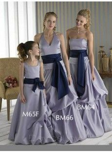 Strapless Long Satin Bridesmaid Dress