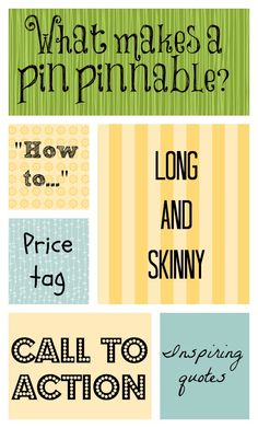 Characteristics of a pinnable pin on #Pinterest via @mmmsocialmedia