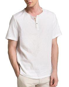 Simple Shirts, Casual Shirts, Boys Kurta, Cyberpunk Clothes, Ethenic Wear, White Linen Shirt, Henley Shirts, Summer Shirts, Denim Fashion