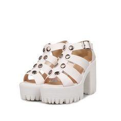 Vogue001 Womens Open Toe High Heel Platform Chunky Heels PU Soft Material Solid Sandals with Metal, White, 34 Vogue001 http://www.amazon.com/dp/B00KRWRHDY/ref=cm_sw_r_pi_dp_UdJXtb1XGHKT4JNH