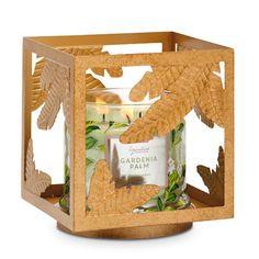 GOLDEN SQUARE JAR HOLDER Item #: P92779