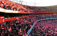 Arsenal V Manchester United: Football Fans: Champions League 2009
