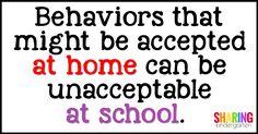 Behaviors that might
