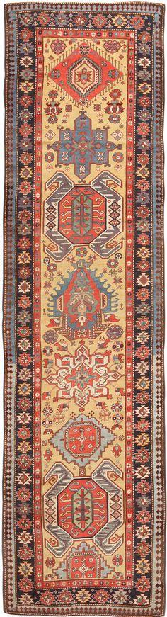 Antique Caucasian Lenkoran / Talish Runner Rug 47264