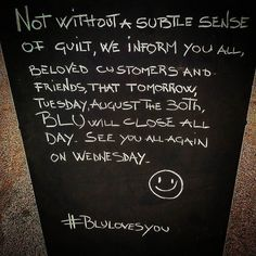 #tomorrow #tuesday #closed #mojacar #blulovesyou