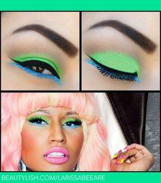 Image result for nicki minaj neon green eyes