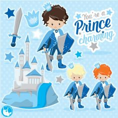 80% OFF SALE Fairytale prince clipart for scrapbooking,clipart commercial use, vector graphics, digital clip art, images, knight - CL1067 by Prettygrafikdesign on Etsy