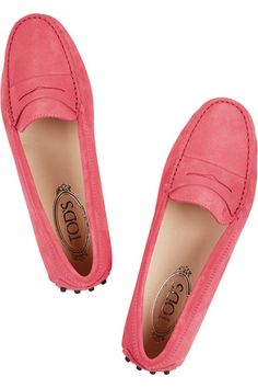 pink Tod's loafers #yesplease