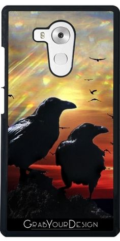 GrabYourDesign - Case for Huawei Mate 8 #Crows at Sunset - by minx267