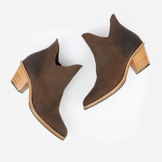 74e5fb2f6a9cd The Two Point Five Ankle Boot - brown leather 2.5-inch stacked heel ankle  boot