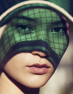 """New Year, New You,"" Mona Matsuoka by Julia Noni for Vogue China January 2015 LIPS HIGHLIGHTER"