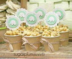 "Treats at a ""Little Peanut"" baby shower #littlepeanut #babyshower"