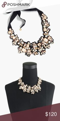 Frost crystal bib necklace NWT J. Crew Jewelry Necklaces