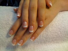 Going to try to do a natural-nail Shellac French like this...