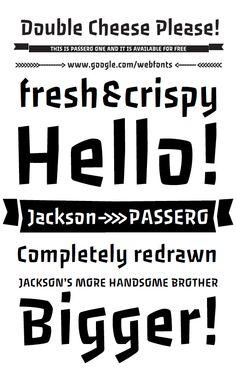 Passero Typeface by Viktoriya Grabowska