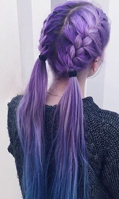 Love this...braids & pig-tails with a great colour!