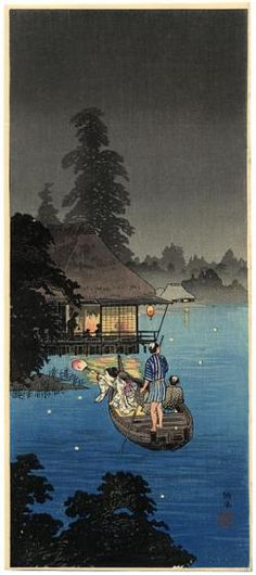 Shotei, Takahashi	 Hunting Fireflies in a Cool Breeze