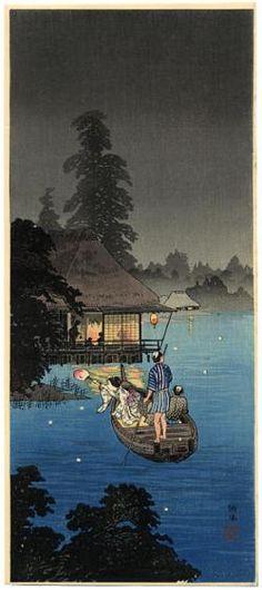 Shotei, Takahashi Hunting Fireflies in a Cool Breeze