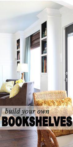 Built your own bookshelves.