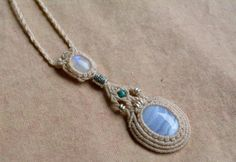 FREE SHIPPING macrame necklace macrame by EarthCraftHandmade