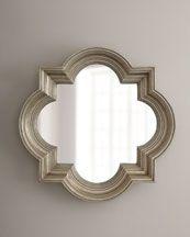30in Silvery Quatrefoil Mirror