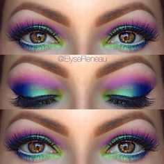 summer eyes, festival eyes, eye makeup, color, mermaid eye, northern lights, light eyes, light up, parti