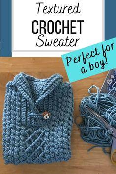 Crochet Cowl Free Pattern, Crochet Stitches, Crochet Hooks, Crochet Patterns, Crochet Toddler, Crochet Baby Clothes, Crochet For Boys, Crochet Cardigan, Knit Crochet
