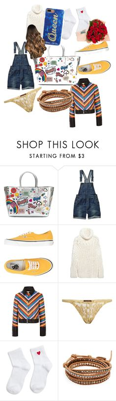 """Untitled #5891"" by brittklein ❤ liked on Polyvore featuring Anya Hindmarch, Fat Face, Vans, MM6 Maison Margiela, Sara Battaglia, Coco de Mer, Forever 21, Chan Luu and Edie Parker"