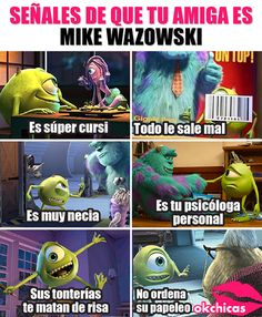 Te estoy vigilando Wazowski te estoy vigilando! Funny Images, Funny Pictures, Bff Drawings, Best Friendship Quotes, Bff Goals, Cool Cartoons, Disney Pixar, Haha, Random