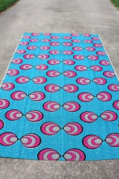 Pink concentric Kissing bubble,African wax print fabric