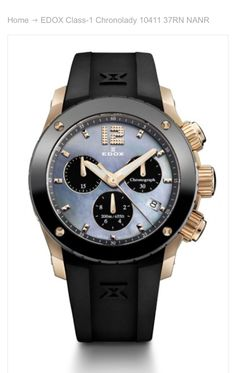Love this Edox watch!!!