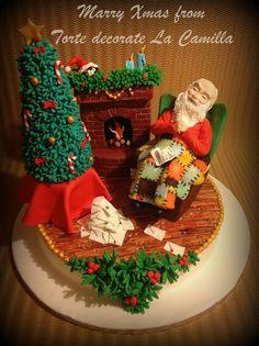 WAKE UP SANTA CLAUS!!! Cake by LaCamilla