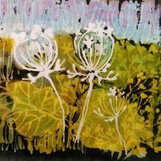Batik flowers by Milka Macheta