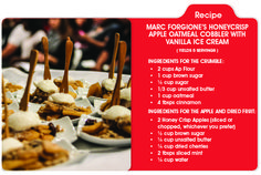 The perfect Valentine's Day dessert? Marc Forgione's Honeycrisp Apple Oatmeal Cobbler with Vanilla Ice Cream