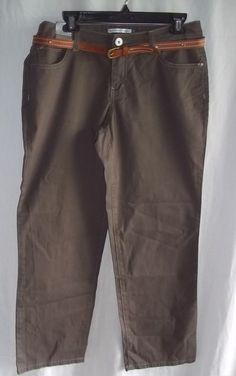 Bandolinoblu Size 8 Brown Ladies Pants NWT Belt Included #BandolinoBlu #CasualPants