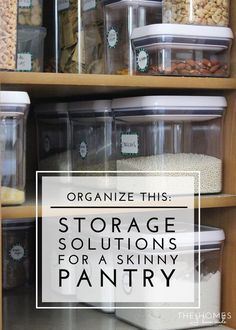 Deep pantry organizing