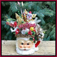 Vintage Christmas Crafts, Retro Christmas Decorations, Vintage Christmas Images, Christmas Mugs, Christmas Items, Vintage Holiday, Rustic Christmas, Christmas Projects, Handmade Christmas