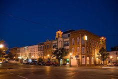 Monroe, Michigan. Main Street. I love Monroe. Such a pretty old fashioned town.