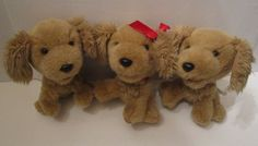 "Lot 3 7"" Build A Bear Smallfrys Golden Retriever Puppy Dog Plush Stuffed Animals #BuildaBear #AllOccasion"