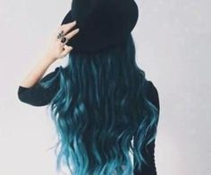 #bluehair #bluecrush