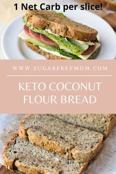 This is the BEST Keto Low Carb Coconut Flour Bread youll have try! The texture of this keto bread resembles soft wheat bread and its perfect for low carb sandwiches! Keto Foods, Healthy Low Carb Recipes, Keto Recipes, Bread Recipes, Snacks Recipes, Thai Recipes, Recipes Dinner, Crockpot Recipes, Best Low Carb Bread