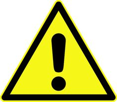 Science Laboratory Safety Signs: Generic Warning Symbol