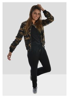 Our model Amber is rocking this army jacket!